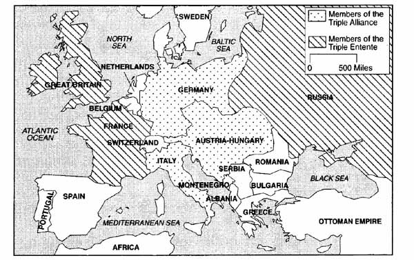 WWI Aliance Map